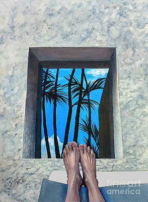 Cancun Painting - Cancun Afternoon by Suzanne Schaefer