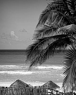 Photograph - Cancun Beach In Black And White - Photography by Ann Powell