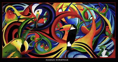 Cancun Christmas Art Print