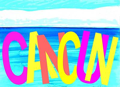 Painting - Cancun Poster T-shirt by Dick Sauer