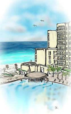 Digital Art - Cancun Royal Sands by Darren Cannell