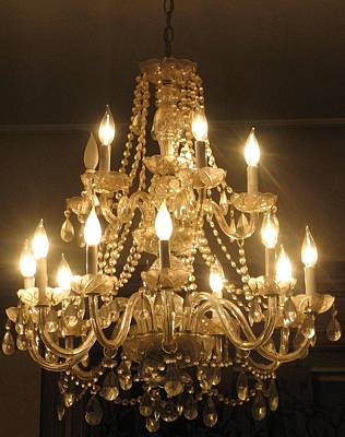 Candelabra Chandelier Art Print by Hasani Blue
