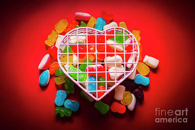 Gummy Photograph - Candies And Hearts by Jorgo Photography - Wall Art Gallery