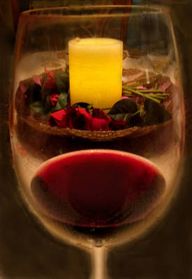 Photograph - Candle And Wine by Ian  MacDonald