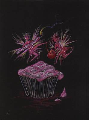 Candle Cherry Art Print