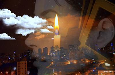 Digital Art - Candle Flame by Paulo Zerbato