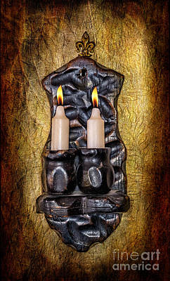 Candle Holder Art Print by Adrian Evans