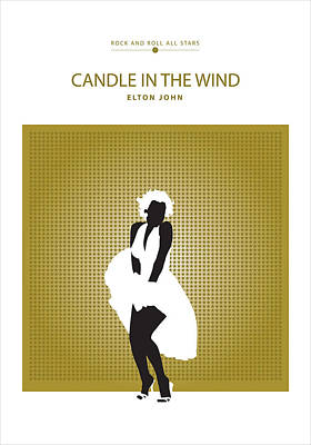 Digital Art - Candle In The Wind -- Elton John by David Davies