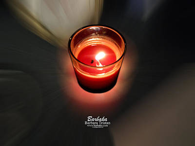 Photograph - Candle Inspired #1173-3 by Barbara Tristan