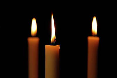 Photograph - Candle Light - 365 - 292 by Inge Riis McDonald