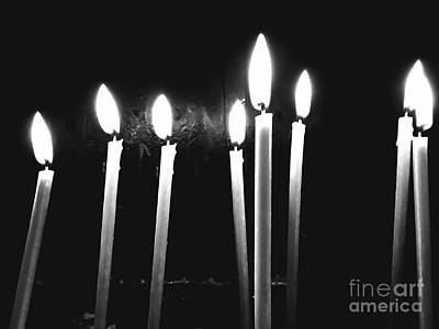 Candle Stick Photograph - Candle Light Abstract In Church by Radu Bercan