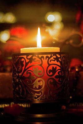 Photograph - Candle Light by Lilia D