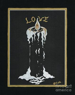 Drawing - Candle Of Love by Teresa White
