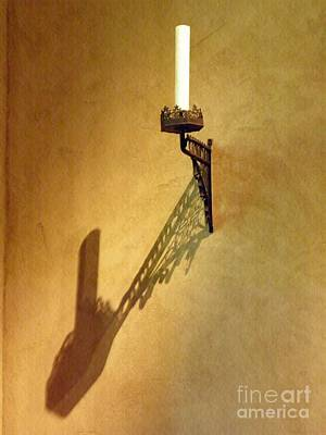 Photograph - Candle On The Wall by Sarah Loft