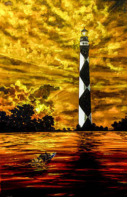 Painting - Candle On The Water by Joel Tesch
