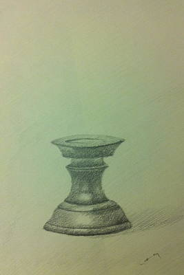 Candle Stand Drawing - Candle Stand Study by Krishnamurthy S