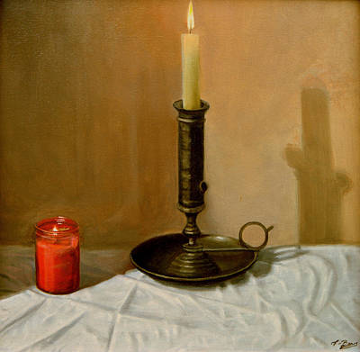 Painting - Candle Still Life by Tony Banos