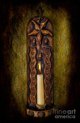Glare Photograph - Candlelight by Adrian Evans