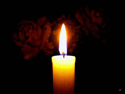 Photograph - Candlelight And Roses by Will Borden