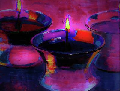 Digital Art - Candlelight Celebration Night By Lisa Kaiser by Lisa Kaiser
