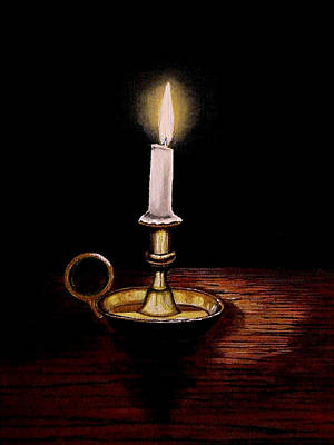 Candlelight Art Print by Victoria Rhodehouse