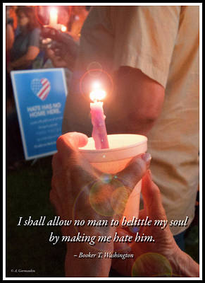 Photograph - Candlelight Vigil Against Hatred by A Gurmankin