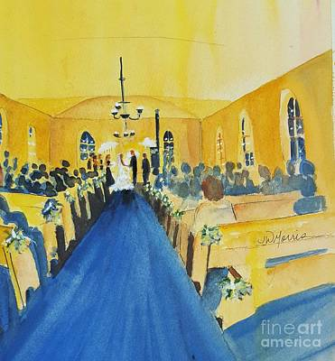 Painting - Candlelight Wedding At The Historic Ryssby Church by Jill Morris
