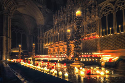 Art Print featuring the photograph Candlemas - Altar by James Billings