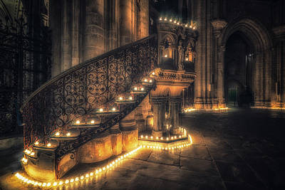 Art Print featuring the photograph Candlemas - Pulpit by James Billings