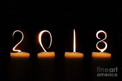 Hope Digital Art - Candles 2018 by Delphimages Photo Creations
