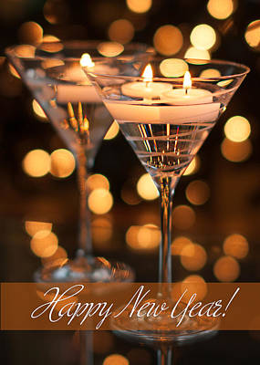 Happy New Year Wall Art - Photograph - Candles - Happy New Year by Maggie Terlecki