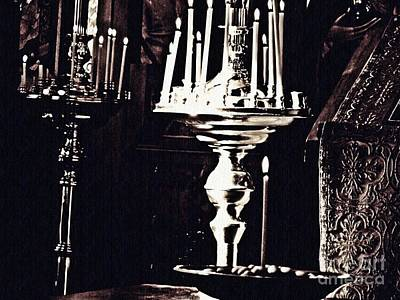 Photograph - Candles In Church by Sarah Loft