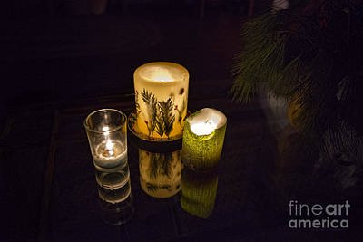 Photograph - Candles On Glass Top Table by David Arment