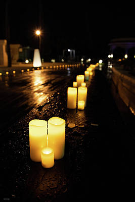 Photograph - Candles On The Beach by Ross Henton