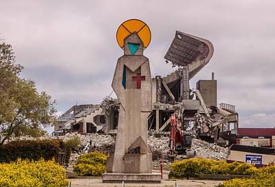 Candlestick Park Under Destruction 7 Art Print by Randy Straka