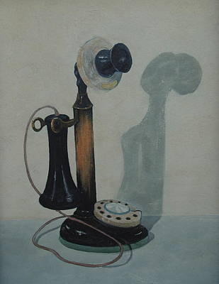 Painting - Candlestick Telephone by E Colin Williams ARCA
