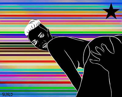 Obey Mixed Media - Candy A$$ by Surj LA
