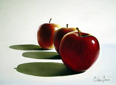 Apple Still Life Painting - Candy Apple Red by Colleen Brown