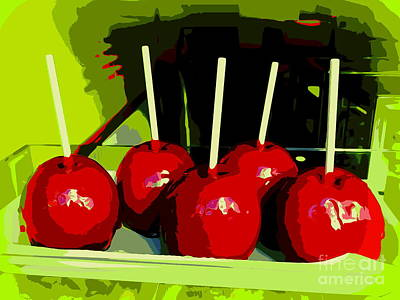 Mixed Media - Candy Apples by Ed Weidman