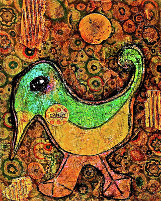 Mixed Media - Candy Bird by Bellesouth Studio