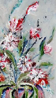 Painting - Candy Cane Bouquet by Lisa Kaiser