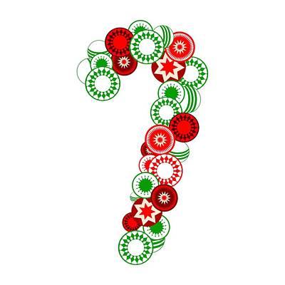 Candy Cane - Christmas Ornaments - Holiday Season Print by Anastasiya Malakhova