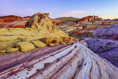 Sunset Landscape Wall Art - Photograph - Candy Cane Desert by Chad Dutson