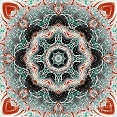 Surrealism Digital Art - Candy Cane Fractal Mandala by Marv Vandehey