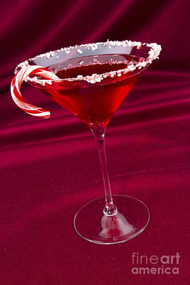 Martini Royalty-Free and Rights-Managed Images - Candy Cane Martini by Karen Foley