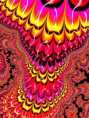 Candy Digital Art - Candy-colored Fractal Art Red Yellow Pink by Matthias Hauser