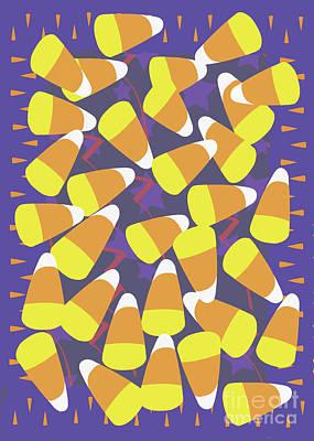 Candy Corn Digital Art - Candy Corn by Barbara Morra