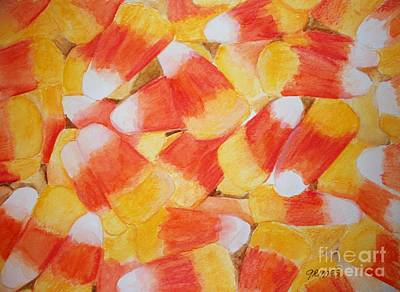 Candy Corn Art Print by Carol Grimes