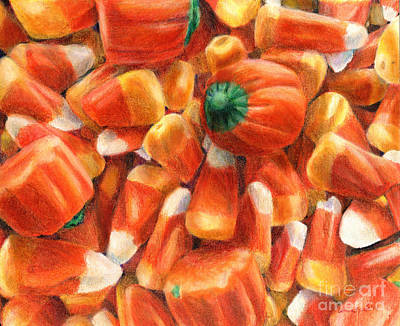 Painting - Candy Corn Cascade by Shana Rowe Jackson