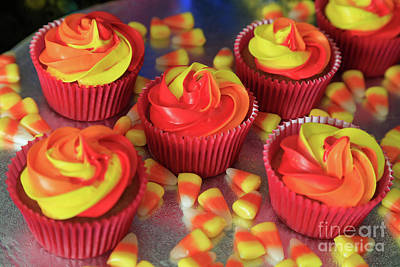 Candy Corn Cupcakes Original by Tracy Hall